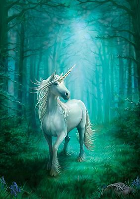 Anne Stokes Forest Unicorn 25cm x 19cm Fantasy Art Canvas Wall Print