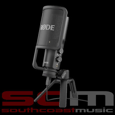 Rode Nt- Usb Podcast Microphone With Pop Filter & Stand Usb Mic Ntusb