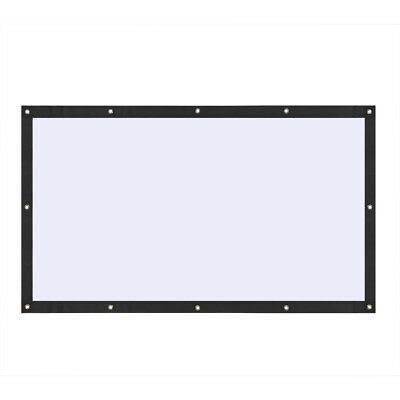 Super PVC Behind Back Rear Projection Screen Curtains for HD Projector Beamer WD