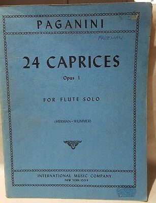 Paganini 24 Caprices Opus1 Flute Solo c1975 Transcribed Jules Herman Music