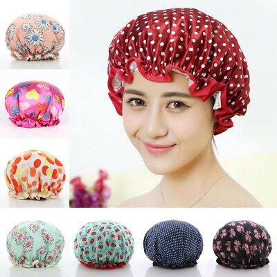 Shower Cap Oversized Waterproof Reversible Thick Long Hair