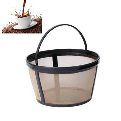 10-12 Cup Coffee Filter Basket-style Reusable Permanent Metal Mesh Tool-BPA Free