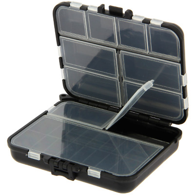 Fishing Tackle Box Black Bit Box For Terminal Tackle Hooks Carp Weights Swivels