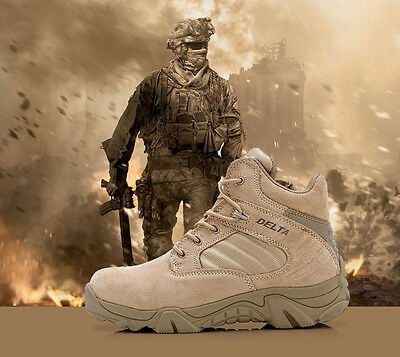 HOT Mens US Military Tactical Boots Desert Combat Army Hiking Shoes Breathable