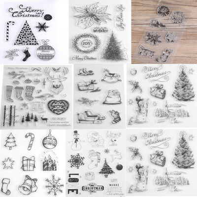 DIY Clear Stamp Scrapbook Silicone Christmas Decorative Cards Craft Supplies WD