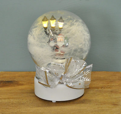 19cm Musical Christmas Snow Globe with Light by Premier