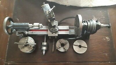 Metal lathe with accessories