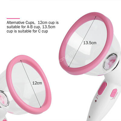 Electric Infrared Cup Enhancer Vacuum Suction Pump Enlarger Breast Up Massager W