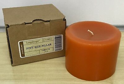 Longaberger Pint Size Pillar Candle in Pumpkin Pie