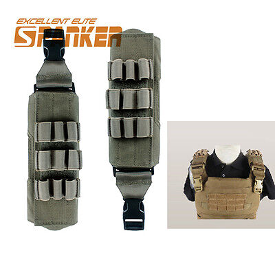 Tactical Molle Shoulder Pads RG for 6094 Armor Plate Carrier Vest Military CS