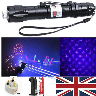 Blue Purple Professional 1mw 532nm 8000M  Laser Pointer Light Pen Beam