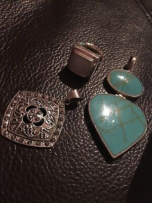 Bulk Lot Sterling Silver Jewellery Marcasite, Mother Of Pearl, Tree Of Life.