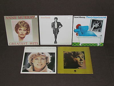 ANNE MURRAY 5 LP RECORD ALBUMS LOT COLLECTION Hippo in my Tub/Greatest Hits/Talk
