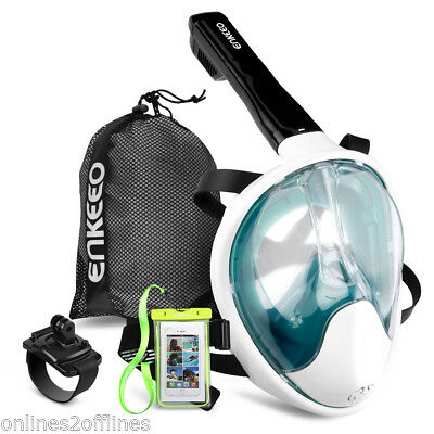 Pro Full Face Swimming Seaview Snorkel Snorkeling Mask Diving Goggles f/ GoPro