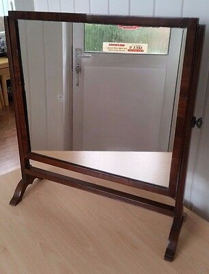 Old Wooden Mirror On Stand
