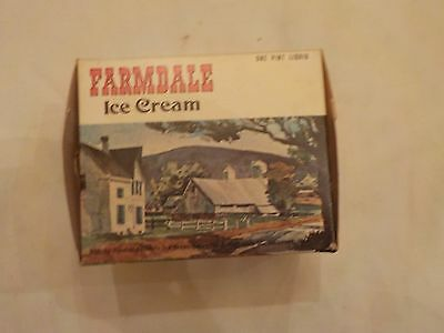 Vintage Pint Farmdale Ice Cream Container