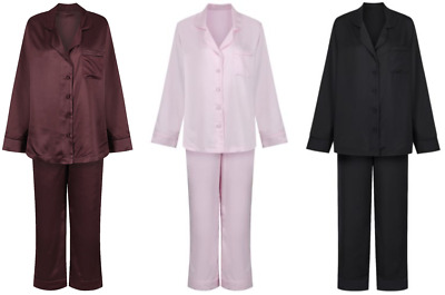 Marks and Spencer M&S Autograph Silk Satin Look Revere Pyjamas in 6 Colours