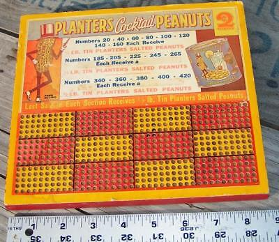 Vintage Advertising Planters Cocktail Peanuts Gambeling Punch Board L@@K!