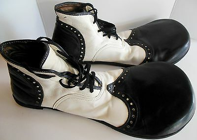 Vintage Professional Circus Clown Shoes Top Quality Leather Italian Vibram Sole