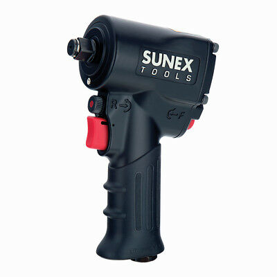 "Sunex 1/2"" Super Duty Mini Air Impact Wrench Compact with Grip 550 FT LBS SXMC12"