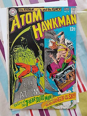 DC The Hawkman and Atom - no. 41 vol. 1 March 1969 Kubert cover good condition