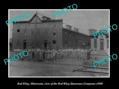 OLD LARGE HISTORIC PHOTO OF RED WING MINNESOTA, THE RED WING STONEWARE Co c1890