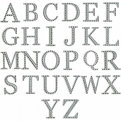 Self Adhesive Diamante Letters 5cm Large Stick On Stickers Craft Embellishments