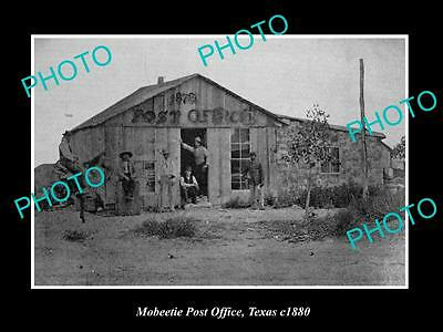 OLD LARGE HISTORIC PHOTO OF MOBEETIE TEXAS,  VIEW OF THE POST OFFICE c1880