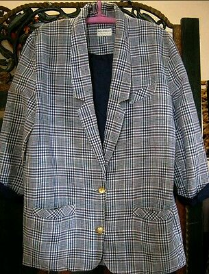 Oversized vintage 1980s check blazer / jacket suit 14 / 16 - great condition