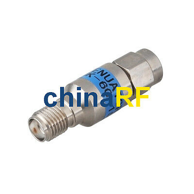 SMA Attenuator SMA Plug male to Jack female 2Watt DC-6Ghz 15dBi