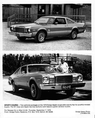 1979 Dodge Aspen R/T & Sunrise ORIGINAL Factory Photo oub6656