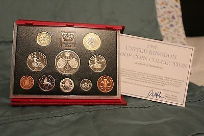 1997 United Kingdom Proof Set 10 coins with COA