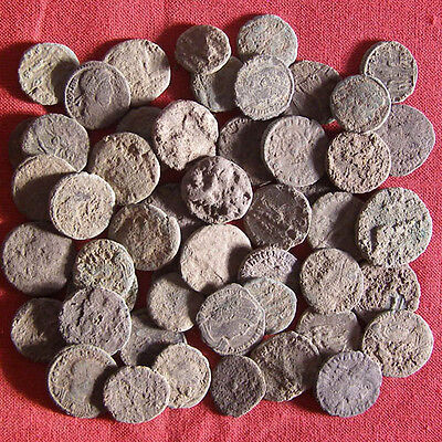 Lot of 50 Uncleaned Late Roman AE3 and AE4 Coin #10