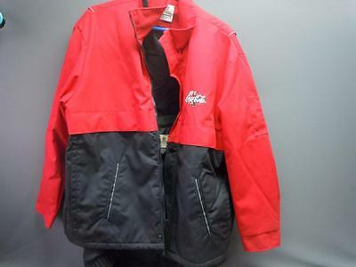 Coca Cola Employee Delivery Driver Lined Jacket XL Riverside Flexbac Advertising