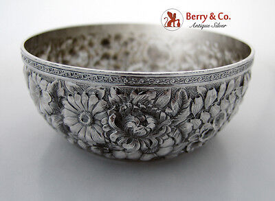Repousse Bowl Wood And Hughes Sterling Silver 1880
