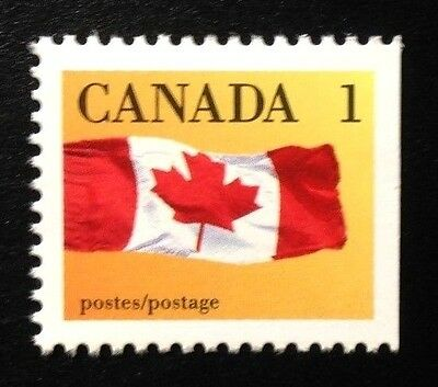 Canada #1184i Right CPP 13.3x14.0 MNH, Canada Flag Booklet Stamp 1990