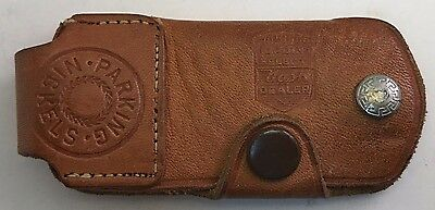OLd NASH Dealer Automotive LEaTher Key Case Fob Chain w/ parking nickels pouch