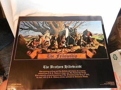 The Fellowship Lord of the Rings Poster by The Brothers Hildebrandt