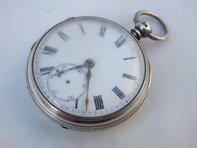 Antique Hall Marked 1866 Silver Fusee Pocket Watch Joshua Littlewood Anstonly