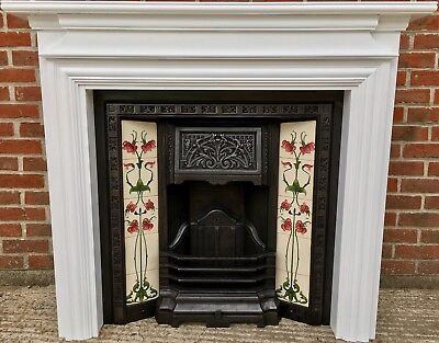 victorian style tiled fireplace  u2022  u00a349 99 picclick uk Antique Fireplace Mantels and Surrounds Cast Iron Wood-burning Fireplaces
