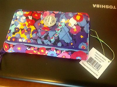 Nwt Vera Bradley Impressionista Turnlock Smart Phone Wallet