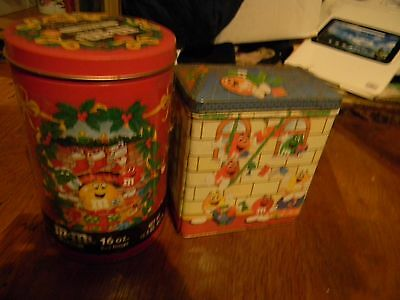 Set of 2 M & M's tins