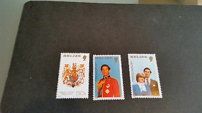 Belize 1981 Sg 614-616 Royal Wedding Mnh