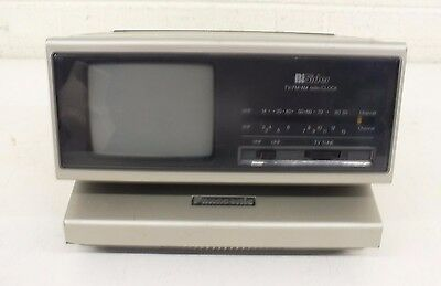 Vintage 1984 Panasonic TR-4060P Bi-Sider Combination AM/FM Radio TV Clock