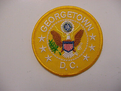 """Lot Of 4  Georgetown / Washington Dc  Embroidered /ron On Patch -3"""" Yellow"""