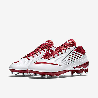 NWT-Nike Men's Vapor Speed LX Lacrosse Cleats - White/Red - SZ-12 - 684837-160