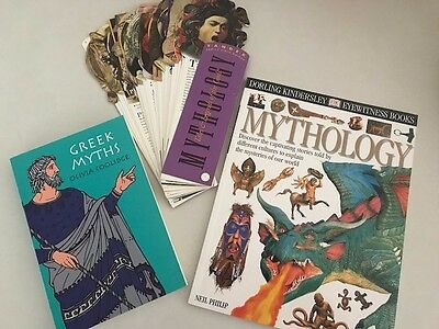 MYTHOLOGY - Homeschool/Educational Lot of 3 items - Excellent, Like New