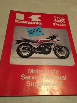 Kawasaki Z400 Z500 Z550 GPZ550 supplement revue moto technique manuel atelier