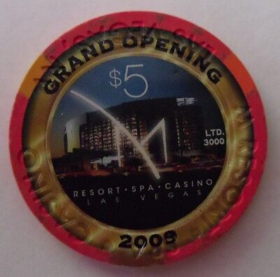 obsolete M RESORTS CASINO Grand Opening 2009 $5 Chip Limited Edition