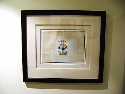 Daffy Duck Warner Brothers Production Animation Cel 1960s Professionally Framed
